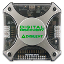A Picture of Digilent's Digital Discovery 2 logic analyzer