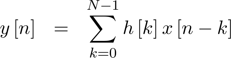 Formula for an FIR Convolution