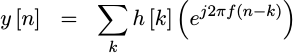 Convolution with a complex exponential
