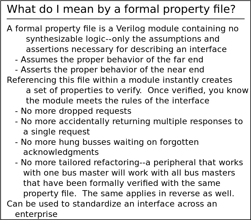 What is a formal property file?