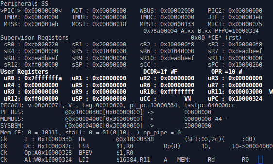 The ZipCPU debugger under Verilator